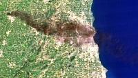 Massive Wisconsin Tire Fire Measured By Satellite