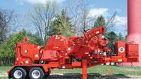 Transportable compact disc chipper delivers up to 1,000 hp