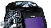 Edgy design enhances helmet