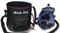 Storage bags lined with fleece to protect respirators and helmets