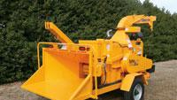 Drum-style chippers feature long arm pivot for smooth vertical lift