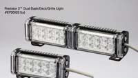 Lights provide greater extreme-angle output via extended-lens design
