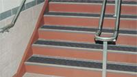 Safety markings for stairways