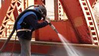 Bridge-cleaning hose