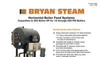 Horizontal boiler feed systems