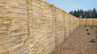 Green concrete fence alternative