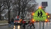 Blinking traffic signs