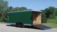 Enclosed landscape trailer