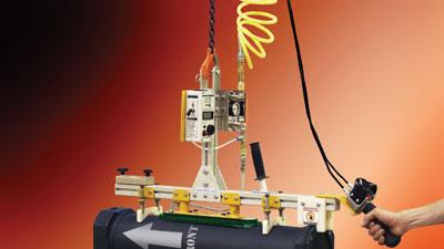 Cylindrical-load vacuum lifter