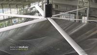 Solar-powered fan system