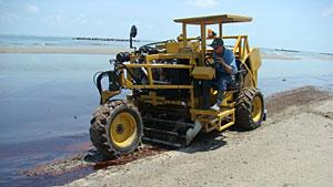 Manufacturer delivers beach cleaners to Gulf spill