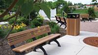 Green outdoor furnishings