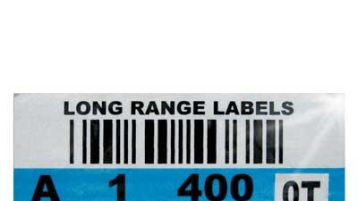 Long-range barcode labels