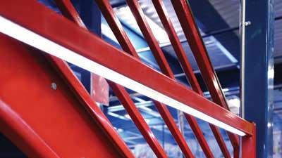 Lighted steel handrail