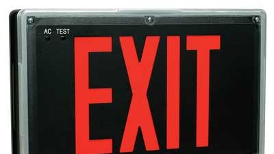 Sturdy exit signs