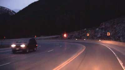 Road curve warning systems