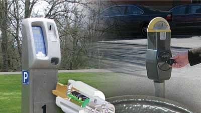 Electronic control parking meters