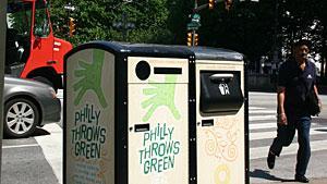 Solar-powered trash compactors deliver savings in Philadelphia