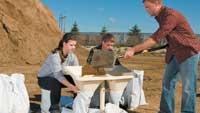 Sandbag filling system