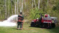Fire skid unit foam system