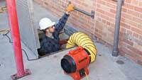 Ventilation blowers for confined spaces