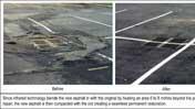 Infrared asphalt repair