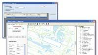 Integrated GIS and document management software