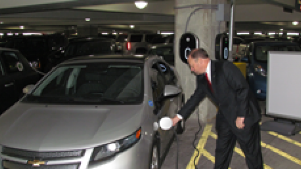 Indy airport installs vehicle charging stations