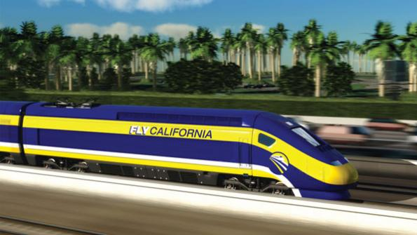 High-speed rail off track