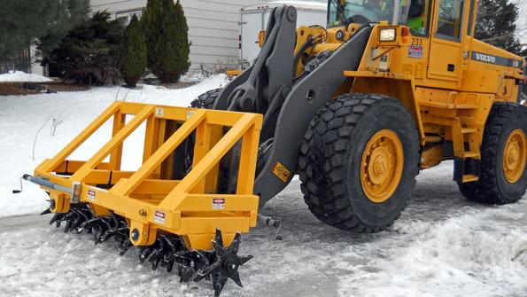 'Menacing' tool clears town's icy streets