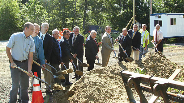 Photo of groundbreaking for sewer systems extension