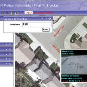 Screenshot of Riverside, California's Graffiti Tracker