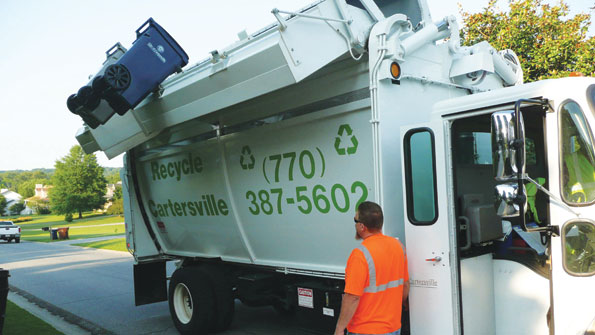 Small town implements curbside recycling program