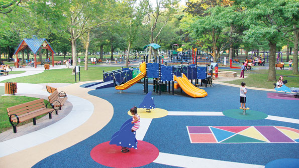 Playground brings together children of all mental, physical abilities