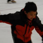 Photo of a child ice skating