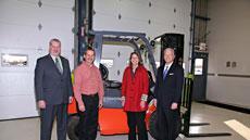 Toyota donates lift trucks to Columbus, Ind.