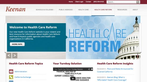 Site informs public sector employers about health care changes