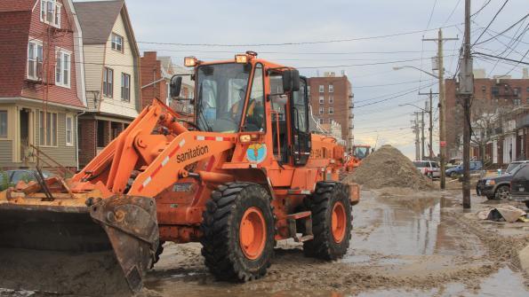 Dept. of Sanitation sweeps up Sandy