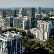 An aerial view of the Orlando skyline, site of the NIGP's Forum.