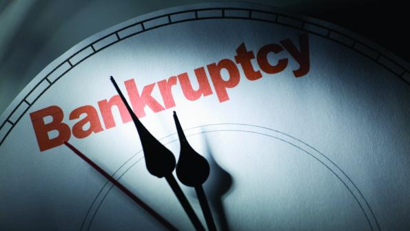 The cost of going bankrupt