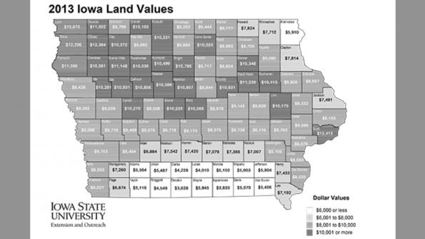Iowa farmland value may have peaked