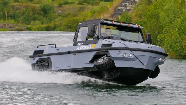 Land/water vehicle tackles disaster tasks (with related video)