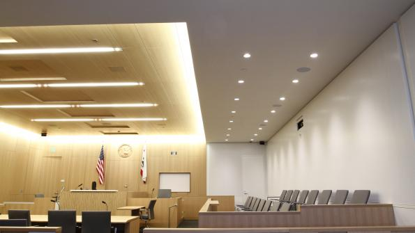 Ceiling system improves speech intelligibility in courthouse (with related video)