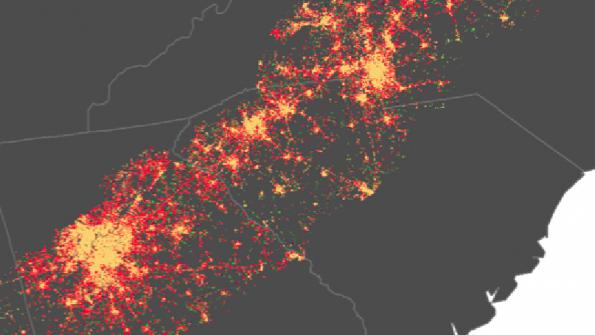 Southeastern megalopolis – the present path of urban sprawl