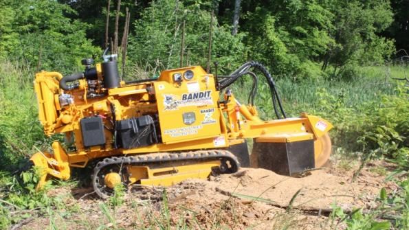 Track-mounted stump grinder is highly mobile (with related video)