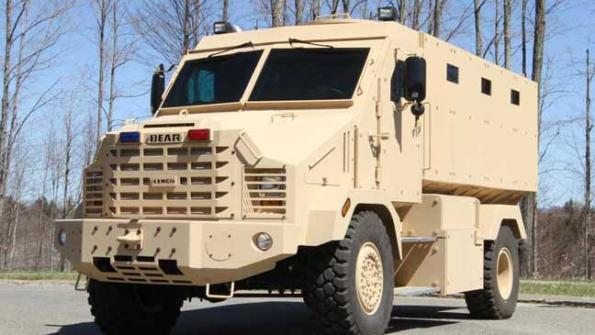 Armored vehicle completes blast testing (with related video)