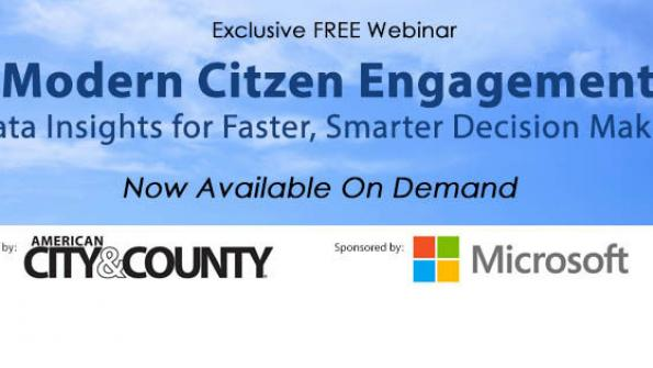 Modern citizen engagement: Data insights for faster, smarter decision making