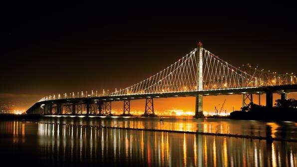 LED lighting transforms California bridge