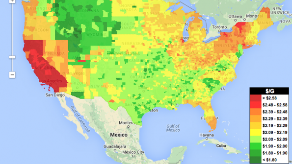 Where to find the cheapest gas in the nation?