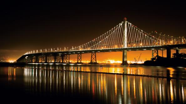 LED lighting transforms California bridge